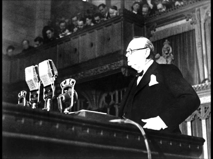 churchill-addressing-house-of-commons-of-the-parliament-of-the-united-kingdom