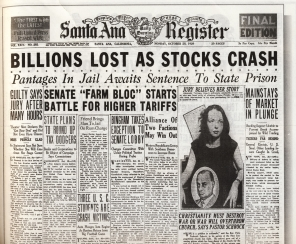 Monday, October 28, 1929 Headlines of the Santa Monica Register